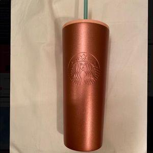 Starbucks Venti Tumbler Glitter Rose Gold Pink